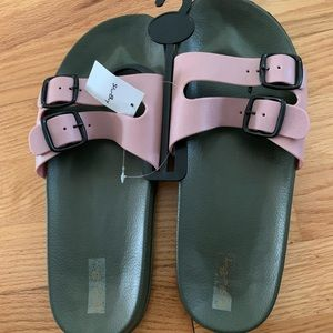 Double Buckle Water Proof casual Slides Sandals